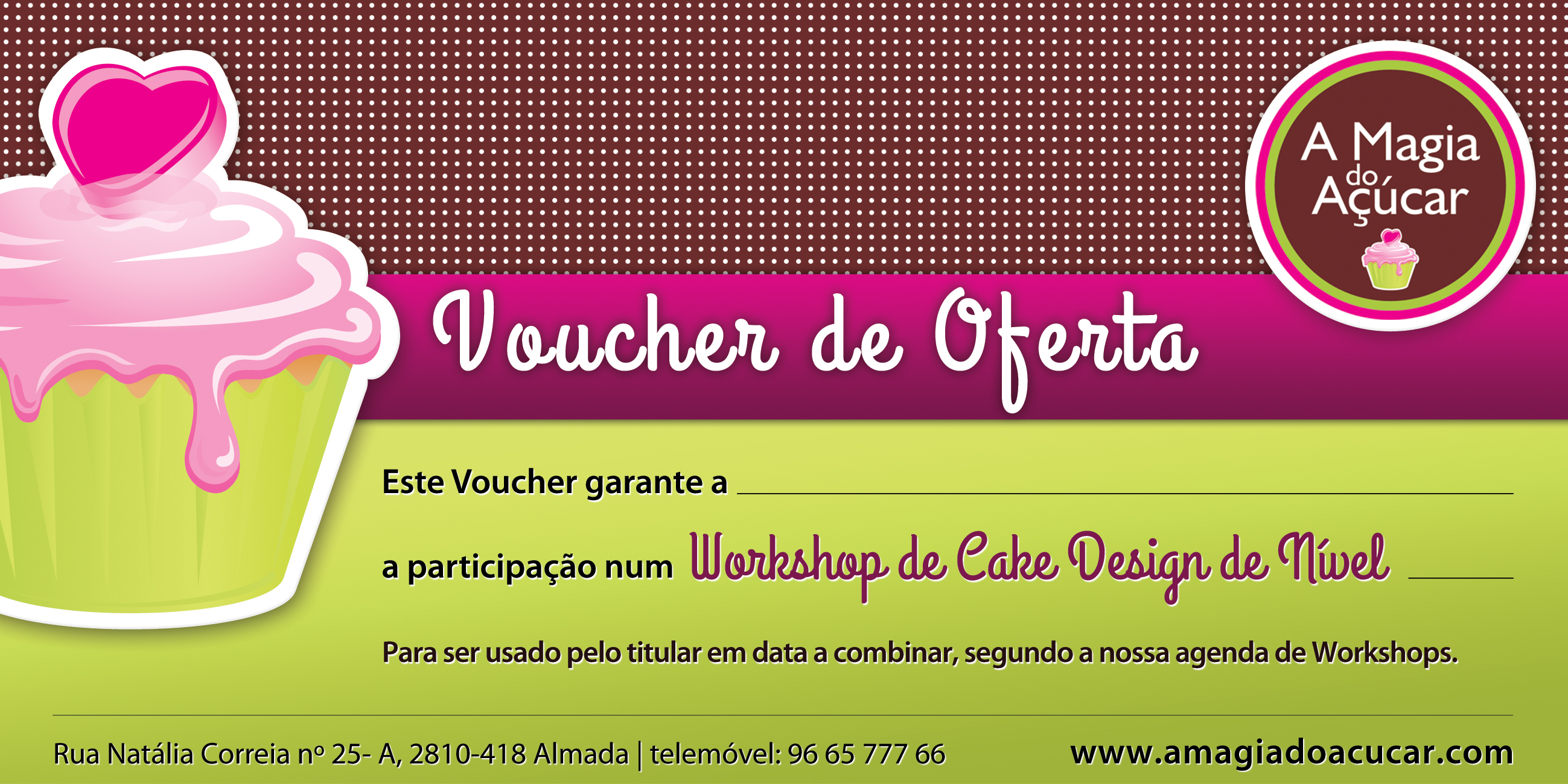 A Magia do Açúcar - Voucher
