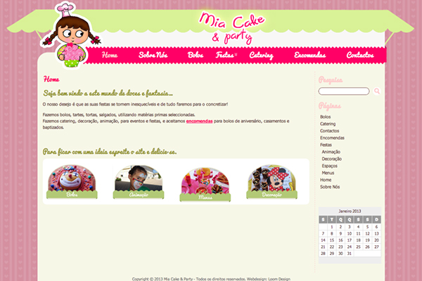 Site - Mia Cake & Party